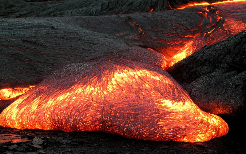 Coulée de lave basaltique.