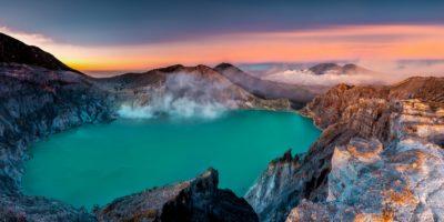 Volcan Kawah Ijen, Indonésie.