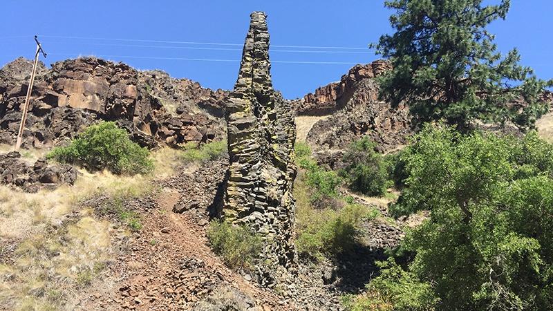Dyke basaltique de la Columbia River