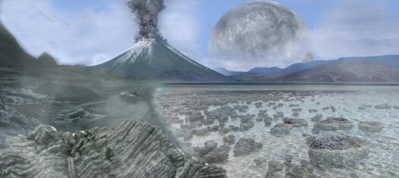 Paysage de la Terre pendantl'Archéen