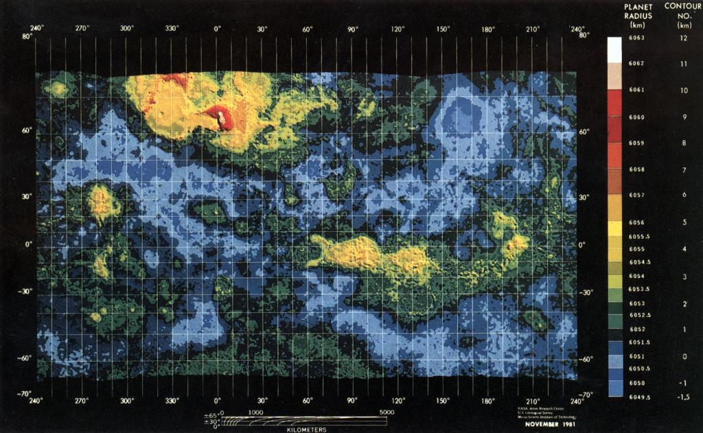 Topographie de Vénus